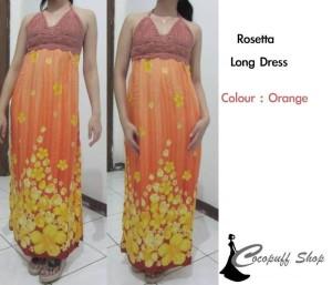 CODE : Rosetta Long Dress Orange