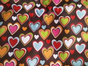 Motif Brown Heart