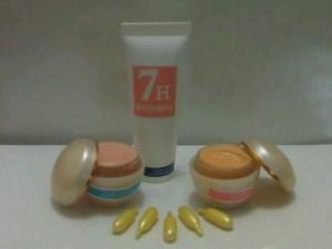 7H Face Whitening 85RB!!!(Day Cream, Night Cream, Facial Scrub, Kapsul Vitamin)