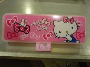 Tempat pinsil kotak Hk pink