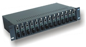 Flextreme FL-81/4-2A: Media Converter Rack-Mount Chassis 14 slots with dual power supply NMS function