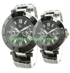 JAM TANGAN GUESS ROSE BLACK COUPLE (DATE)