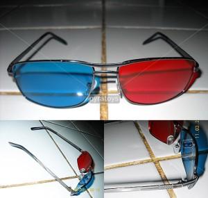Kacamata 3D Red Cyan (Metal Frame)