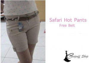 CODE : Safari Hot Pants Cream (Free Belt)