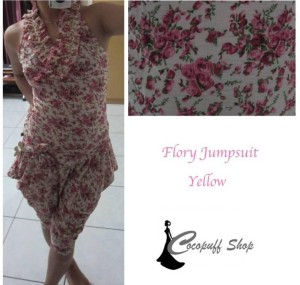 CODE : Flory Jumpsuit Yellow