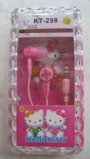 Earphone Kitty Pink