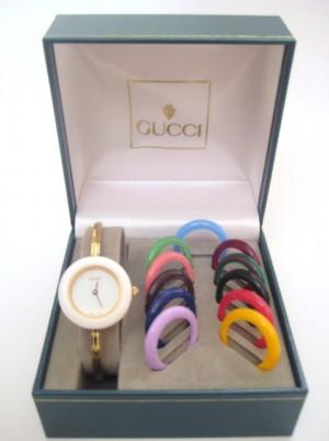 Gucci Watch Jam Tangan Wanita Interchangeable Bezel Model, Size Small