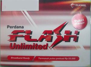 Kartu Perdana Telkomsel FLASH Unlimited 3 Bulan - Paket Prabayar