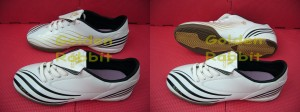 Sepatu Futsal Adidas F10 Sala White Black
