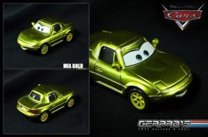 Mia Gold - Cars - Mattel - Loose