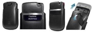 Capdase Original Smart Pocket Callid For Blackberry 9700 9780 Onyx Black