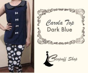 CODE : Carola Top Dark Blue