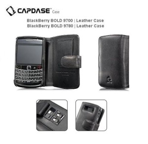 Capdase Leather Case Bifold Blackberry 9700 9780 Onyx