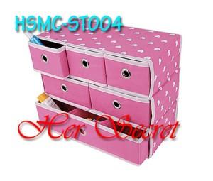 (HSMC-ST004) Foldable Storage Box - Tingkat 3