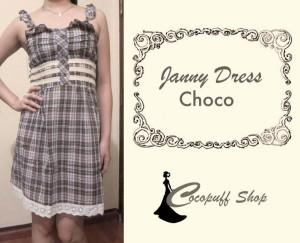 CODE : Janny Dress Choco
