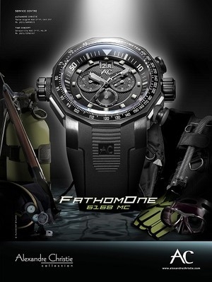 Jam Tangan Alexandre Christie Fathom One 6168 MC black