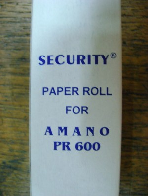 Security Roll for Amano PR 600