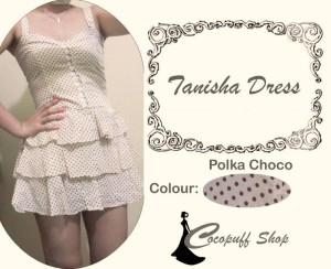 CODE : Tanisha Dress Polka Choco