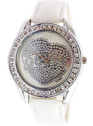 GUESS HEART DIAMOND LEATHER