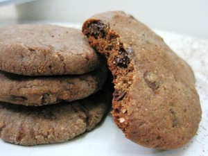 DOUBLE CHOC ALMOND COOKIES