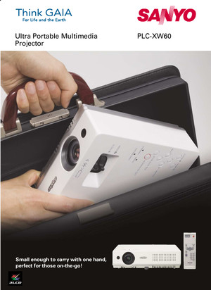 Sanyo PLC-XW60 | Industry's Smallest And Lightest XGA 3LCD-Portable Projector