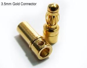 Banana plug Gold Connectors : 3.5mm (cowo-cewe)