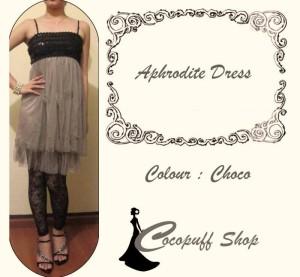 CODE : Aphrodite Dress  Choco