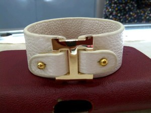 HERMES BRACELET LEATHER (WHITE)
