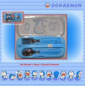 Sendok Garpu Sumpit Doraemon