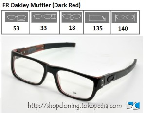 FR Oakley Muffler (Dark Red)
