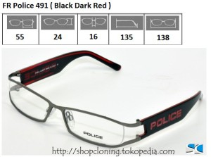 FR Police 491 ( Black Dark Red)