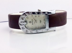 AIGNER BELT LEATHER (BROWN)