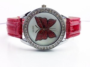 GUESS BUTTERFLY LEATHER (RED)