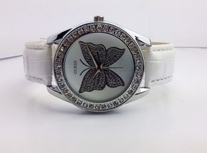 GUESS BUTTERFLY LEATHER (WHITE)