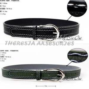 Wild cowboy leather belt