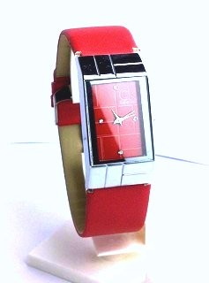 CK SQUARE STRAP LEATHER (RED)