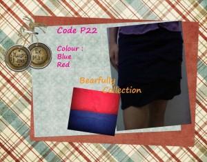 Blue layer skirt
