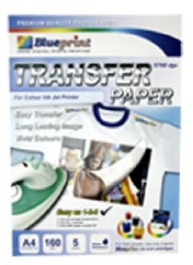 Blueprint Transfer Paper WHITE (BP-TPA4160) - A4, 5 Sheet, 160 gsm, Cast Coating, Glossy, Water Resistant