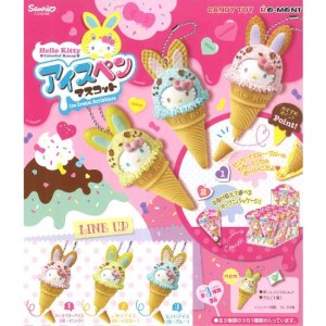 RE-MENT HELLO KITTY ICE CREAM PEN MASCOT, SET OF 3