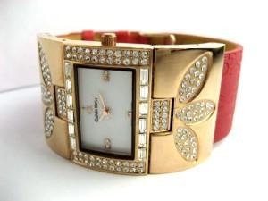 JAM TANGAN WANITA CK FLOWER DIAMOND (RED)