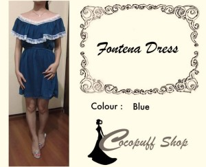 CODE : Fontena Dress Blue