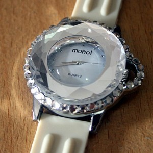 JAM TANGAN MONOL WITH CRYSTAL DIAMOND SUPER ORIGINAL