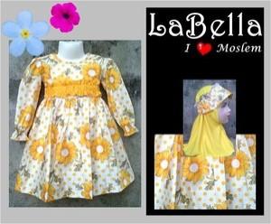 LaBella Yellow Flower Glitter