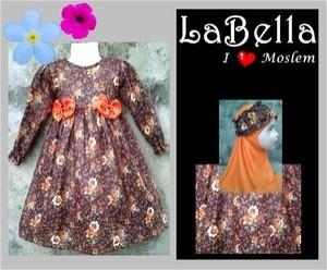 LaBella Brown Orange Flower