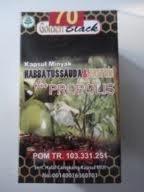 Golden Black Habbatussauda & Zaitun + Propolis 70 Capsule