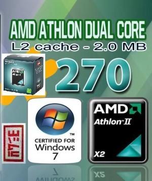 AMD AM3 : Athlon II X2 270 - REGOR 3.4 GHz Dual-Core Processor (BOX/Kardus)