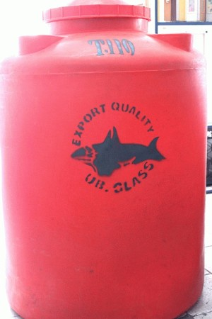 Tangki air plastik / polyethylene  ( toren air ) UB GLASS 1000 liter