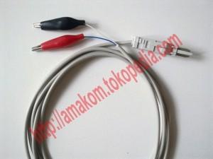 Test Cord LSA Plus Single / 2-Pole Test Cable Aligator Clip. KR-Cable-CR02