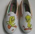 Sepatu Lukis Tweety