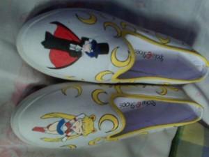 Sepatu Lukis Sailormoon